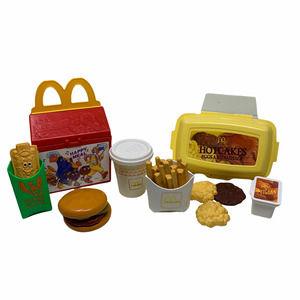 Vtg Fisher Price McDonald's Play Food Hotcakes & Hamburger Happy Meal Sets 1980s